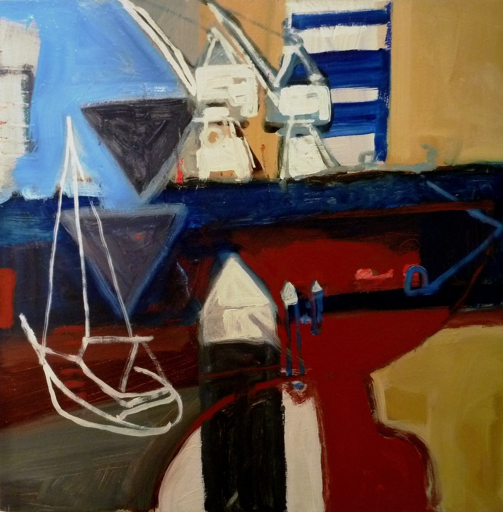 Jsorby2011_Dockside_oil on board_60x60cm